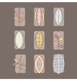 Leaf Icon Set in Linear Style vector image