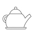 teapot kettle drink handle restaurant vector image