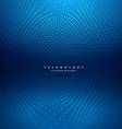 abstract dots mesh in blue background vector image