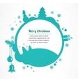 merry christmas christmas greeting card vector image vector image