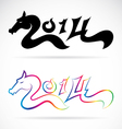 Horse for 2014 New Year vector image