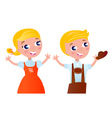 octoberfest cartoon vector image