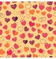 Seamless pattern of hearts vector image vector image