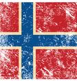 Norway retro flag vector image vector image