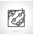 Abstract icon for car evacuation vector image