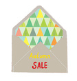 Autumn sale envelope - decorative idea vector image