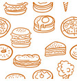 doodle of food various set vector image