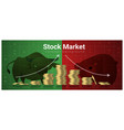 finance concept background with stock market vector image