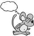 mouse with thought bubble vector image