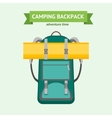 Tourist Camping Backpack Card vector image