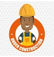 under construction worker website vector image