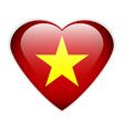 Vietnam flag button vector image