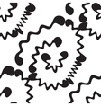 Wave Black And White Pattern vector image