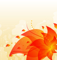 Abstract floral background with copy space vector image vector image