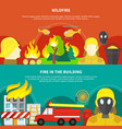 firefighting banners set vector image