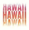 hawaii tee print t-shirt design graphics stamp vector image