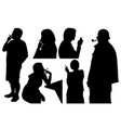people smoking cigarette and pipe vector image
