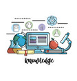 education school knowledge and utensils design vector image