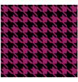 Houndstooth Pattern Violet Design vector image