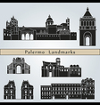 Palermo landmarks and monuments vector image vector image