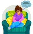 depressed girl vector image vector image