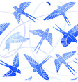 Flight of Swallows - watercolor pattern vector image