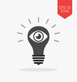 Light bulb with eye icon Vision concept Flat vector image