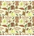 Autumn sale seamless pattern with season women vector image
