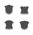 blank shield badges set vector image