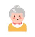 cheerful senior adult woman vector image