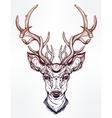 Deer head in line art style vector image