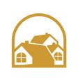 elegant gold home group vector image