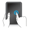 hand icons with mobile computer vector image