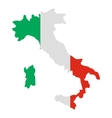 Italy map icon flat style vector image