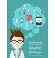 Scientist who thinks about health and medicine vector image