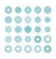 set of ornamental snowflakes vector image