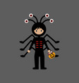 spider halloween costume vector image