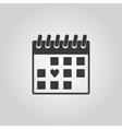 The calendar icon Valentines day symbol vector image