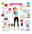 Woman healthy lifestyle infographics vector image