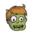boy zombie head vector image
