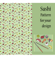 Sushi pattern vector image