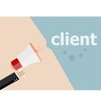 Client Hand holding a megaphone vector image