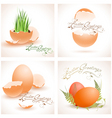 Easter postcards collection vector image