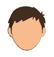 Faceless men cartoon vector image