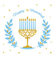 hanukkah design - happy hanukkah greeting vector image