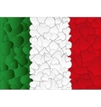 Hearts doodles hand drawn flag Italy with love vector image