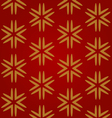 red seamless background with gold snowflakes vector image