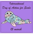 Seal pup background vector image