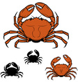 Set of the crabs icons in vector image