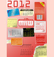 shopping calendar vector image